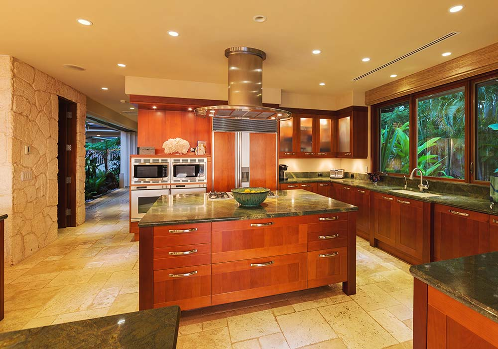 Kitchen counters and ovens